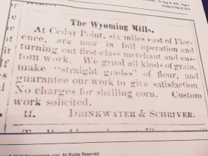 The Wyoming Mills Ad